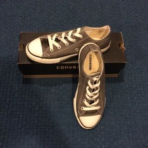 Gray  youth Converse sneakers